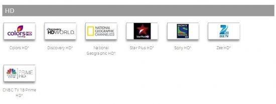 hd channels in tata sky south special pack