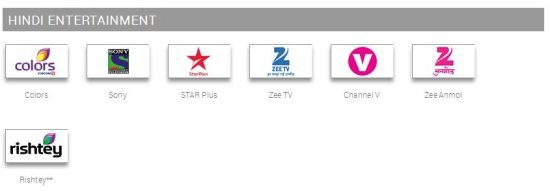 hindi entertainment channels in tata sky south special pack