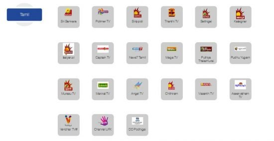Tamil Channels In ZIng Digital 99 Package