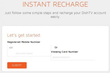 dish tv instant recharge